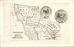 Map of Territory Ceded to Mexico 1848 and 1853