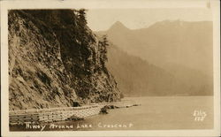 Highway Around Lake Crescent