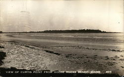 View of Curtis Point From Goose Rocks Beach, Maine