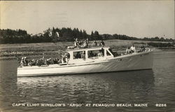 "Cap'n Eliot Winslow's ""Argo"" at Pemaquid Beach, Maine"