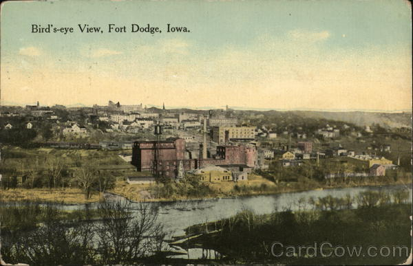 Bird's Eye View of Town Fort Dodge Iowa