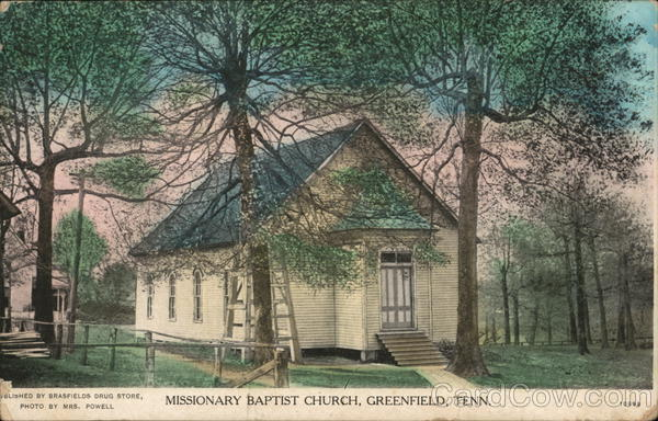 Missionary Baptist Church Greenfield Tennessee Mrs. Powell