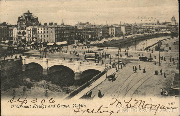 O'Connell Bridge and Quays Dublin Ireland