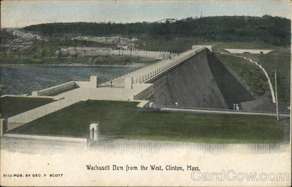 Wachusett Dam from the West Clinton Massachusetts