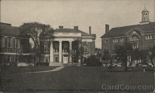 Radcliffe College - Library, Agassiz House and Gymnasium Cambridge Massachusetts