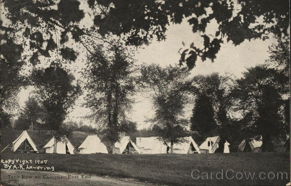 Tent Row on Campus, East End East Northfield Massachusetts