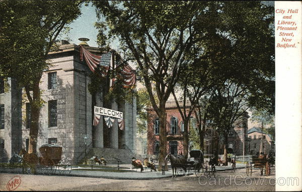 City Hall and Library, Pleasant Street New Bedford Massachusetts