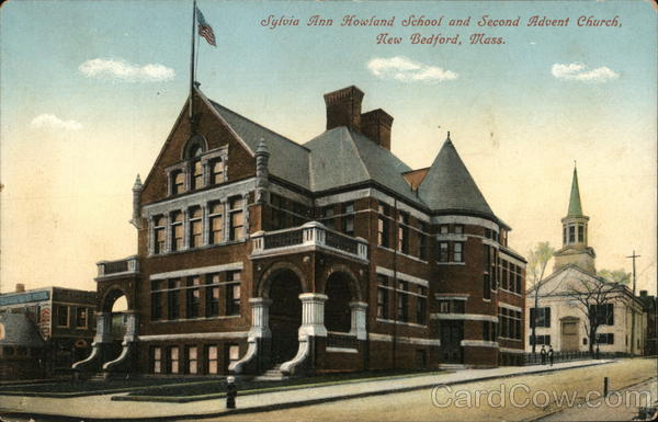 Sylvia Ann Howland School and Second Advent Church New Bedford Massachusetts