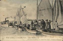 Boat Landing at Arnold's Park, Lake Okoboji