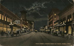 Main Street, Looking North by Night