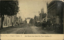 2nd Street East from City Park Postcard