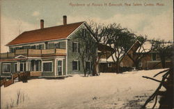 Residence of Alonzo H. Bancroft, New Salem Centre
