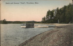 "Beach and Steamer ""Pearl"" Postcard"