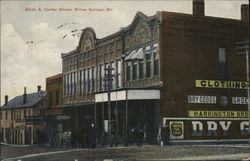 Block Six, Center Street Postcard