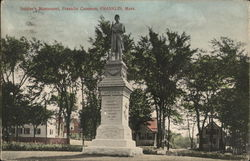 Soldier's Monument, Franklin Common Postcard