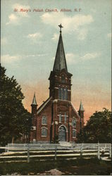 St. Mary's Polish Church Postcard