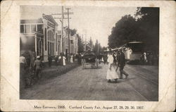 Main Entrance 1906 Cortland County Fair