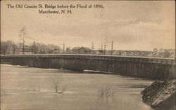 The Old Granite St. Bridge before the Flood of 1896