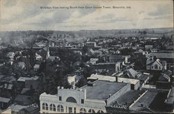 Birdseye View Looking South From Court House Tower Postcard