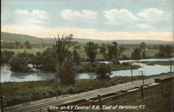 View on New York Central RR East of Herkimer