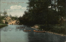Boating on the Creek, Bennett Homestead