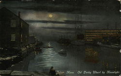 Old Derby Wharf by Moonlight
