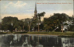 Shawme Lake and Congregational Church