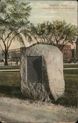 Memorial Boulder on the Green