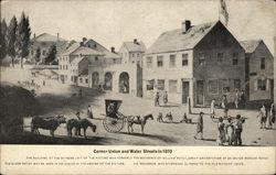 Corner Union and Water Streets in 1810