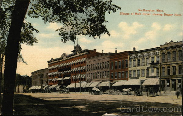 Main Street showing Draper Hotel Northampton Massachusetts
