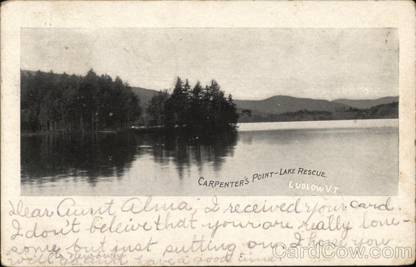 Carpenter's Point, Lake Rescue Ludlow Vermont