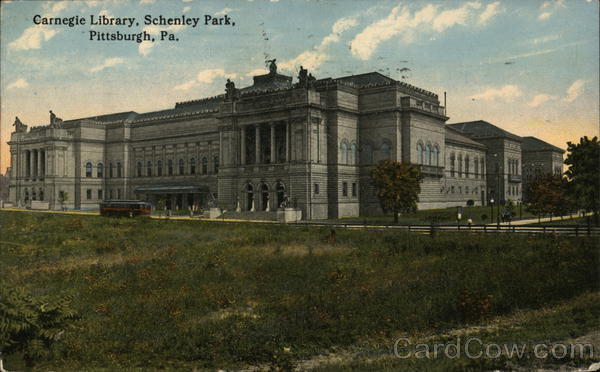 Carnegie Library, Schenley Park Pittsburgh Pennsylvania