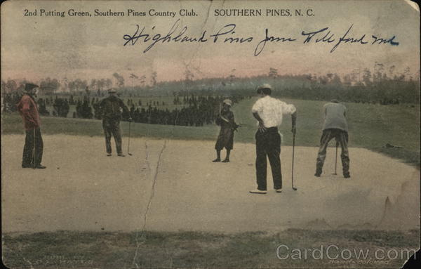 2nd putting green, Southern Pines Country Club North Carolina