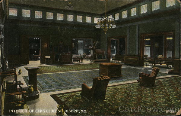 Interior of Elk's Club St. Joseph Missouri