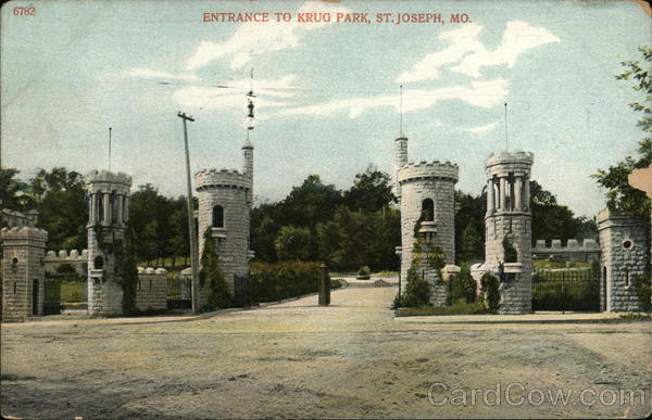 Entrance to Krug Park St. Joseph Missouri