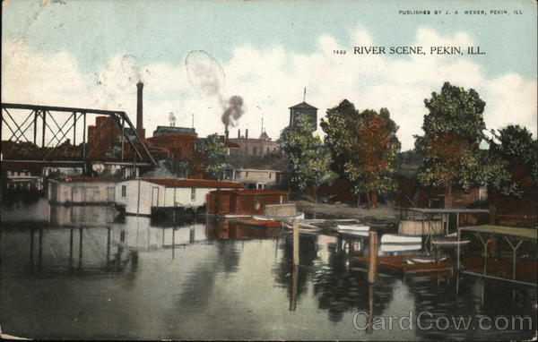 River Scene Pekin Illinois