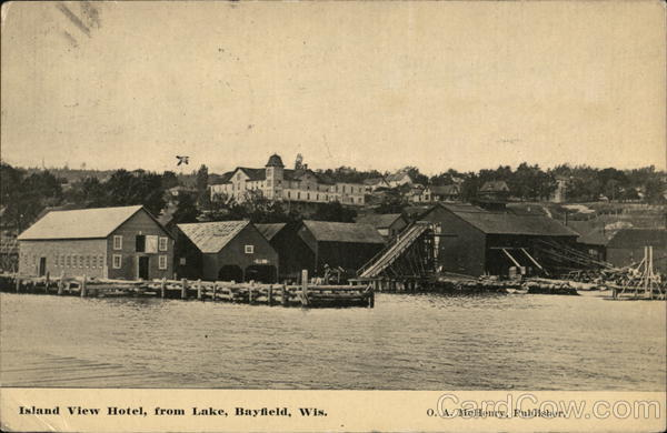 Island View Hotel from Lake Bayfield Wisconsin