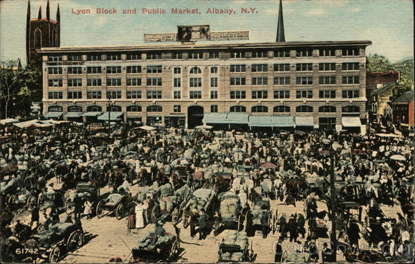 Lyon Block and Public Market Albany New York