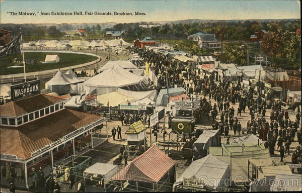 The Midway from Exhibition Hall, Fair Grounds Brockton Massachusetts