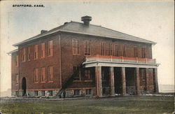 School Building Postcard
