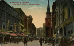 Washington St. Showing Old South Church