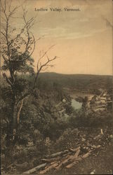 View of lake and valley scenery, Ludlow Valley