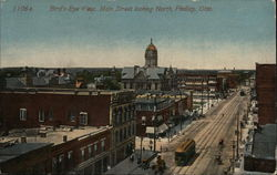 Bird's-eye view, Main Street looking north Postcard