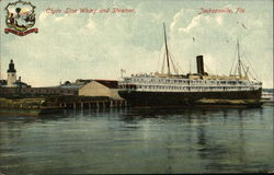 Clyde Line Wharf and Steamer