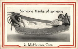 Two women in a hammock