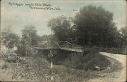 Bridge and Old Mill Postcard