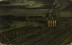 Kittanning Iron and Steel Mill at Night