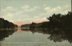 Rock River view near Thompsons Cottage Postcard