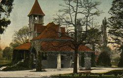 Oak Hill Cemetery - Administration Building Postcard
