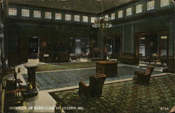 Interior of Elk's Club